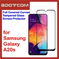 Full Covered Tempered Glass Screen Protector for Samsung Galaxy A20s (Black)