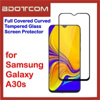Full Covered Tempered Glass Screen Protector for Samsung Galaxy A30s (Black)