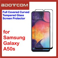 Full Covered Tempered Glass Screen Protector for Samsung Galaxy A50s (Black)