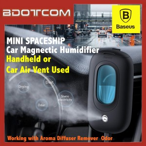 Baseus Mini Spaceship Car Air Vent Magnetic Humidifier Handheld Air Purifier