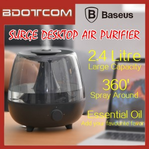 Baseus Surge 2.4L Desktop Humidifier Essential Oil Diffuser Large Capacity Air Purifier for Indoor / Office / Living Room / Bedroom