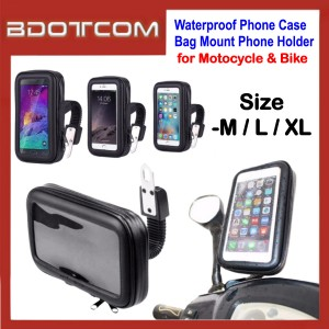 Waterproof Phone Case Bag Mount Phone Holder for Bike Bicycle Motorcycle Grab Food, Foodpanda, Hungry Food Delivery, Honda, Yamaha, Kawasaki, Modenas, Suzuki