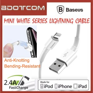 Baseus Mini White series 2.4A Quick Charge Lightning Cable for iOS Device