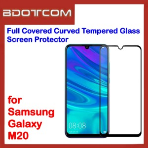 Full Covered Curved Tempered Glass Screen Protector for Samsung Galaxy M20 (Black)