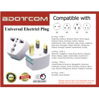 Universal Electrical Plug Converter Travel Adapter Socket suitable for Malaysia, China, Singapore, Thailand, Japan, Indonesia, America, Autralia, New Zealand, Turkey, India, Bangladesh, Myanmar, Pakistan and others