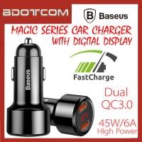 Baseus Magic series Digital Display 45W Dual QC3.0 USB Port Quick Charge In Car Charger