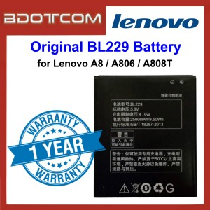 Original Lithium Polymer Rechargeable Battery BL229 for Lenovo A8 / A806 / A808T