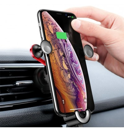 Baseus YY Vehicle-Mounted Gravity Type Air Vent In Car Mount Phone Holder with Lightning Cable