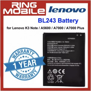 Replacement Battery BL243 for Lenovo K3 Note / A5600 / A7000 / A7000 Plus