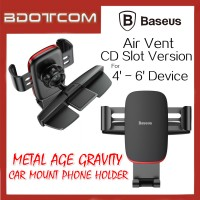 Baseus Metal Age Gravity Air Vent CD Slot Version Car Mount Phone Holder