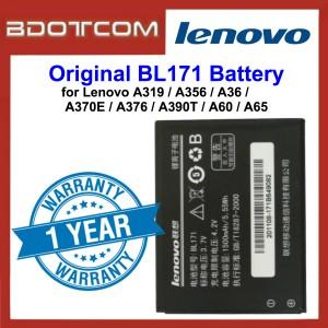 Original Lithium Polymer Rechargeable Battery BL171 for Lenovo A319 / A356 / A368 / A370E / A376 / A390T / A60 / A65