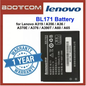 Replacement Battery BL171 for Lenovo A319 / A356 / A368 / A370E / A376 / A390T / A60 / A65