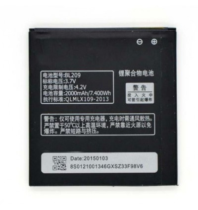 Original Lithium Polymer Rechargeable Battery BL209 for Lenovo A378T / A398T / A516 / A706 / A760 / A820E