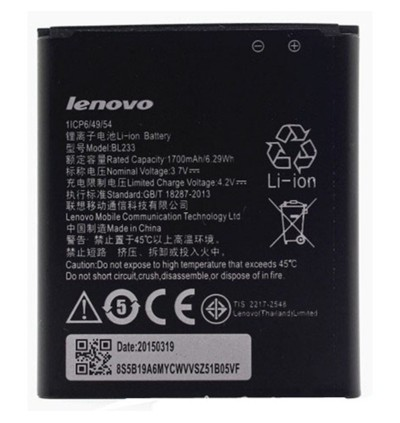 Original Lithium Polymer Rechargeable Battery BL233 for Lenovo A3600 A3600D A3800D