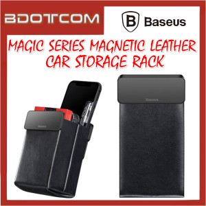 Baseus Magnetic Magic Leather Car Storage Leather Rack for Toyota / Honda / Mazda / Proton / Perodua / BMW / Benz Mercedes / Hyundai / Nissan / Audi / Volvo / Volkswagen / Lexus / Kia / Suzuki / Ford / Mitsubishi