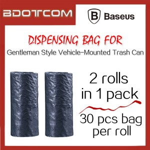 Baseus 2 Roll Dispensing Bag / Plastic Bag for Gentleman Style Vehicle-Mounted Trash Can Mini Car Rubbish Bin