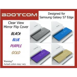 Clear View Slim Cover Mirror Semi Transparent Phone Case for Samsung Galaxy S7 Edge