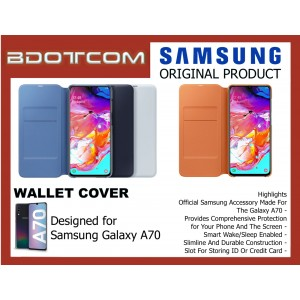 Original Samsung Wallet Cover with Handy Inside Pocket for Samsung Galaxy A70