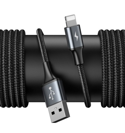 Baseus 1.5m Dual USB Port + Lightning Cable Backseat Special Data Cable Set