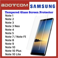 Tempered Glass Screen Protector for Samsung Galaxy Note 1 / Note 2 / Note 3 / Note 3 Neo / Note 4 / Note 5 / Note 7 / Note FE / Note 8 / Note 9 / Note 10 / Note 10 Plus / Note 10 Lite