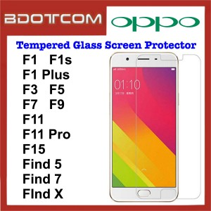 Tempered Glass Screen Protector for Oppo F1 / F1s / F1 Plus / F3 / F5 / F7 / F9 / F11 / F11 Pro / F15 / Find 5 / Find 7 / Find X