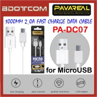 Pavareal PA-DC07 1000mm 2.0A Fast Charge MicroUSB Data Cable for Samsung / Huawei / Oppo / Vivo / Xiaomi