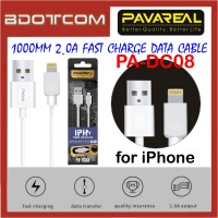 Pavareal PA-DC08 1000mm 2.0A Fast Charge Lightning Data Cable for Apple iPhone 11 Pro Max, Xs, XR, iPhone 8, 8 Plus, iPhone 7, 7 Plus, iPhone 6s, 6s Plus, iPhone SE, iPod Touch
