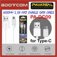 Pavareal PA-DC09 1000mm 2.0A Fast Charge Type-C Data Cable for Samsung Note 10, Note 10 Plus, S10, S10 Plus, Huawei Mate 30 Pro, Mate 20 Pro, Mate 20X, Mate 10 Pro