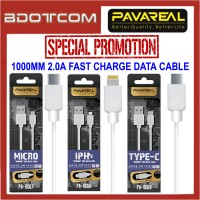 [PROMOTION] Pavareal 1000mm 2.0A Fast Charge MicroUSB / Lightning / Type-C Data Cable for Samsung / Apple / Huawei / Oppo / Xiaomi / Vivo