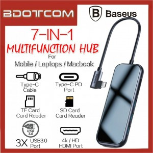 Baseus Superlative series 7 in 1 Type-C To 60W Type-C PD + 4K / HD + SD + TF+ 3x USB3.0 Port Multifunction Hub