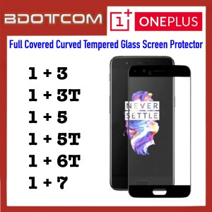Full Covered Curved Tempered Glass Screen Protector for Oneplus 3 / Oneplus 3T / Oneplus 5 / Oneplus 5T / Oneplus 6T / OnePlus 7 (Black)
