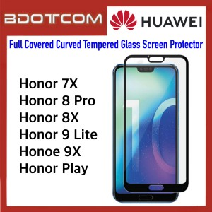 Full Covered Curved Tempered Glass Screen Protector for Huawei Honor 7x / Honor 8 Pro / Honor 8x / Honor 9 Lite / Honor 9x / Honor Play (Black)