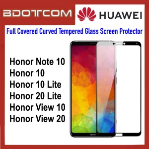 Full Covered Curved Tempered Glass Screen Protector for Huawei Honor Note 10 / Honor 10 / Honor 10 Lite / Honor 20 Lite / Honor View 10 / Honor View 20 (Black)