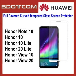 Full Covered Curved Tempered Glass Screen Protector for Huawei Honor Note 10 / Honor 10 / Honor 10 Lite / Honor 20 Lite / Honor View 10 / Honor View 20 (White)
