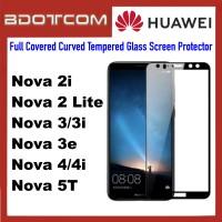 Full Covered Curved Tempered Glass Screen Protector for Huawei Nova 2i / Nova 2 Lite / Nova 3 / Nova 3i / Nova 3e / Nova 4 / Nova 4i / Nova 5T (Black)