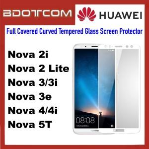 Full Covered Curved Tempered Glass Screen Protector for Huawei Nova 2i / Nova 2 Lite / Nova 3 / Nova 3i / Nova 3e / Nova 4 / Nova 4i / Nova 5T (White)