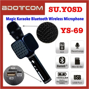 SU.YOSD YS-69 Portable Magic Karaoke Bluetooth Wireless Handheld Cellphone Microphone support USB / TF MP3 Player