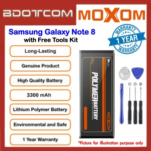 Original MOXOM High Capacity Battery 3300mAh for Samsung Galaxy Note 8 with Free Tools Kit