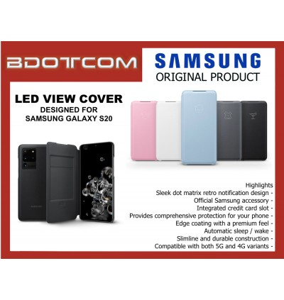Original Samsung LED View Cover Wallet Case for Samsung Galaxy S20