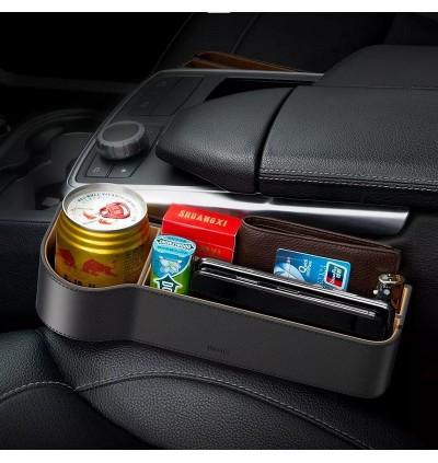 Baseus Elegant series Car Gap Seat Leather Storage Box for Toyota / Honda / Mazda / Proton / Perodua, BMW / Benz Mercedes / Hyundai / Nissan / Audi / Volvo / Volkswagen / Lexus / Kia / Suzuki / Ford / Mitsubishi