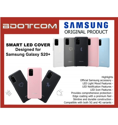 Original Samsung Smart LED Cover Protective Back Case for Samsung Galaxy S20+ S20 Plus