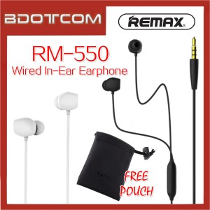 Remax RM-550 Clear Sound Quality Equalisation Wired In-Ear Earphone for Samsung / iPhone / Huawei / Vivo / Xiaomi / Sony / Morotola / Oneplus