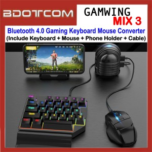 GAMWING MIX-3 Bluetooth 4.0 Gaming Keyboard Mouse Converter for PUBG Mobile Game for Apple / Android Device