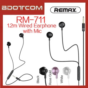 Remax RM-711 1.2m Stereo Wired In-Ear Earphone with Mic