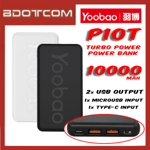 Yoobao P10T Power Turbo 2 USB Output + Type-C Input + MicroUSB Input 10000mAh Power Bank