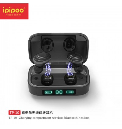 ipipoo TP-10 LED Display TWS True V5.0 Bluetooth Wireless Earbuds with Charging Case for Samsung / Apple / Xiaomi / Huawei / Oppo / Vivo
