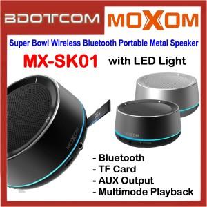 Moxom MX-SK01 Super Bowl Wireless Bluetooth Portable Metal Mini Speaker with LED Light for Samsung / Apple / Xiaomi / Huawei / Oppo / Vivo