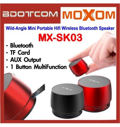 Moxom MX-SK03 Mini haut-parleur Bluetooth sans fil Hifi Portable à Angle sauvage pour Samsung / Apple / Xiaomi / Huawei / Oppo / Vivo