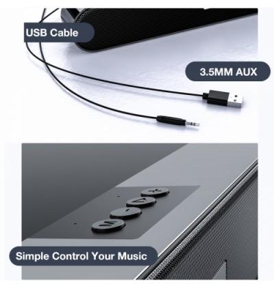 Moxom MX-SK02 Home Theater 360 Wireless Stereo Bluetooth Speaker for Samsung / Apple / Xiaomi / Huawei / Oppo / Vivo