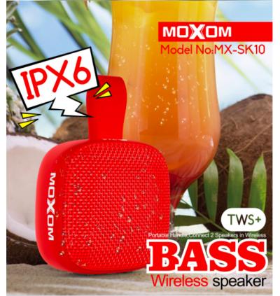 Moxom MX-SK10 Bluetooth Stereo TWS Waterproof IPX6 Wireless Speaker for Samsung / Apple / Huawei / Xiaomi / Vivo / Oppo